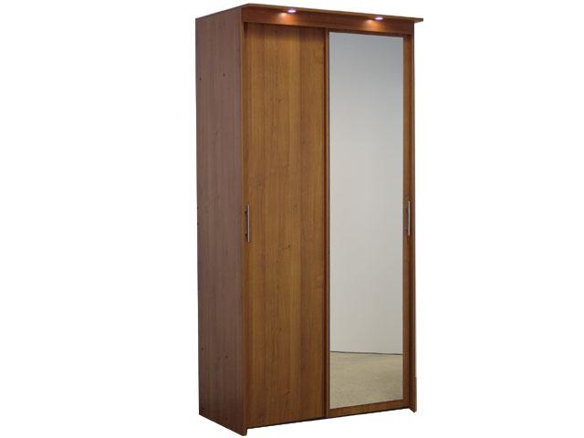 Шкаф-купе 2х дверный с 1 зеркальной дверью